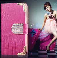For iPhone 6 Plus 5. 5 inch Diamond phone Cases Stand Wallet ...