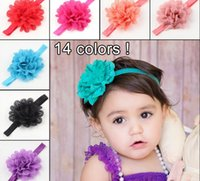 Childrens Accessories Hair Flowers Chiffon Headbands Baby Ha...