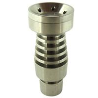 Homme Universal Domeless Titanium Nail 4 EN 1 14mm 18mm 19mm double fonction GR2 pour Pipes Wax Oil Hookah eau Dab Rigs