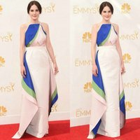 2015 Michelle Dockery Red Carpet Halter Celebrity Dresses A-...