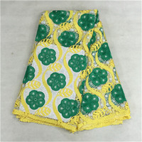 (5yards pc)BW93- 6 Charming vine with colorful flower guipure...