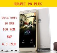 6,0 pouces Free Shipping 2015 copie débloqué Huawei P8 PLUS téléphone Octa Core Android téléphone portable 4Go de RAM 32GB ROM 1280 * 720 gratuite conduit lumière cadeaux