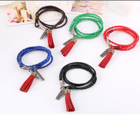 Leather Tassel Bracelet 2016 Tassels Charms Leather Bracelet...