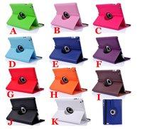 Caso de Ipad para Ipad Mini Aire Ipad 5 Ipad 2/3/4 Ipad 6 Galaxy Tab 4 07/08/10 pulgadas rotación de 360 grados Lichee Pattern 10 Colores