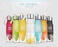 2015 hot sell 7 colors Lemon water bottle plastical bottle k...