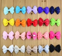 Hotsale Baby Kids Ribbon Bowknot Colorful Hair Clips Childre...