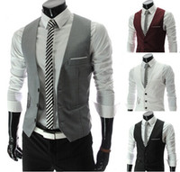 2014 Men Vests Outerwear Mens vest Mens Casual Suits Slim Fi...