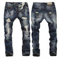 H New Brand New homens jeans longas venda quente 2015Straight Designer homens Jeans Calças de Straight Designer Jeans Tamanho 29-38 RL620