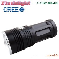 led flashlight MI- 3 4000 lumen Camp Hunting Torch 4x Cree XM...