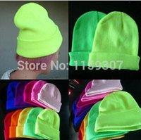 Fluorescent Beanie Winter Skullies Street Hip- hop Hats Free ...