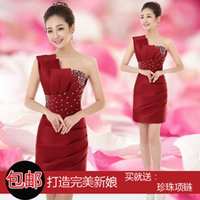 2016 Real Image Short Prom Dresses Sexy New Crew Strapless S...