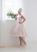 Новый 2016 Свадебные платья Бато шеи Sheer линия Лук Cap рукава свадебное платье с открытой спиной на заказ House Of Mooshki Леоноры