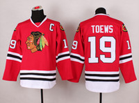 Красный 19 Тэйвз трикотажные изделия хоккея Блэкхокс Хоккей Wear Дешевые 2015 Stanley Cup Champion Спорт Трикотажные изделия Горячие Продажа мужские Хоккей Униформа