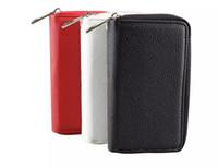 Zipper type de portefeuille coquille de téléphone mobile en cuir convenant pour 4.7 / 5.5 mobile iPhone écran pouces