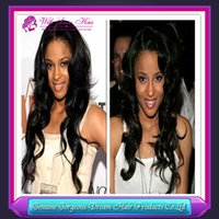 free shipping fashion black women 8- 24inch human hair wig bo...