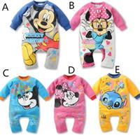 2015 Autumn Cartoon Mickey Minnie Toddler Infants Bodysuits ...