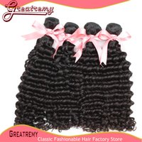 7A Brazilian Virgin Unprocessed Hair Deep Wave Hair Weft Wea...