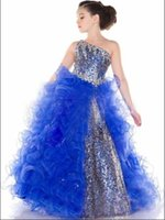 New Luxurious Brightest Ball Gown Girl Kids Pageant Events B...