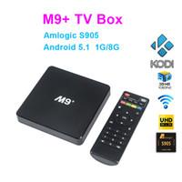 [Véritable] 20pcs M9 + M9 Plus Amlogic S905 Quad Core Andorid 5.1 TV BOX 1000M LAN 1 Go / 8 Go 2.4GHz WiFi BT H.265 KODI Préinstallé