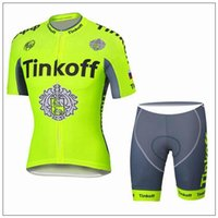 2016 New Arrival Tinkoff Saxo Cycling Jersey Set Fluo Yellow...