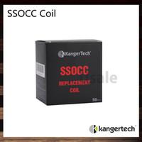 Kanger SSOCC Bobines 0.5ohm 1.2ohm 1.5ohm Ni200 0.15ohm Remplacer la bobine Head For Kanger Nebox Kit Subvod Kit acier inoxydable OCC 100% d'origine