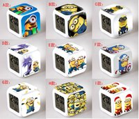 60 Styles 2015 New Lovely Minion Alarm Clock With 7 Changing...