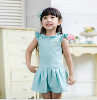 Short Sleeve Ruffles Sleeve Princess Dress Girl' s Cotto...