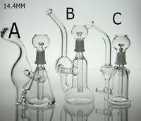 Hot vendre 14.4mm Bong en verre tuyau d'eau avec dôme clou et bol deux fonctions