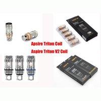100% de haute qualité Aspire Triton V2 bobines 0.5ohm Remplacement Clapton Triton 2 bobines Atomiseur Têtes de bobine 0.3 / 0.4 / 1.8omh VS Ni200 TC Bobine