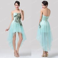 Grace Karin Briskly Feathers Bridesmaid Cocktail Prom Hi- Low...