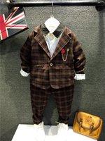 5sets lot Baby Boy Outfits 2015 Autumn Boys Suits British St...
