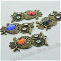 Wholesale 12pcs Vintage Charms Owl Pendant Antique bronze Fi...