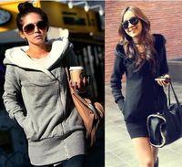 Women' s Upper Garments female Plush Hat Lapel slant Zip...