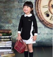 Autumn 2015 Fashion 100- 150cm Girls Peter Pan Neck Long Slee...