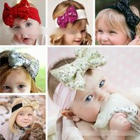 13 Colors Striped Sequined Bowknot Elastic Cloth Hot Baby Ch...