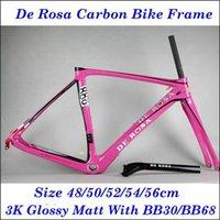 Pink De Rosa 2015 Cycling Bike Frame 3K Weave Carbon Frame F...