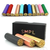 Mod mécanique complète SMPL 510 fil pour 18650 Batterie avec la conception de la signature Smpl mod cuivre noir SS Brass DHL gratuit
