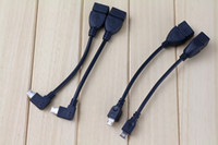 Mini USB OTG Micro adaptateur hôte de câble Noir 10cm Pour Samsung HTC Android Tablet PC A10 VIA Rk Sony MP3 MP4 téléphone intelligent