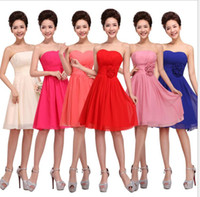 Cheap Plus size short Bridesmaid Dresses under 50 new strapl...
