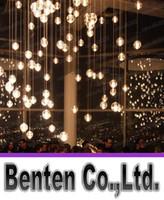 G4 LED кристалл стеклянного шарика подвеска лампа Метеоритный дождь Потолочный светильник звездопад лестничные Бар Droplight Люстра Освещение AC 110 LLFA4797F