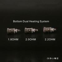 GS H2S double bobines V-Core III atomiseur Bobine Head 1.8ohm 2.0ohm 2.2ohm Bottom bobines pour Greensound Clearomizer Mise à jour Ego H2