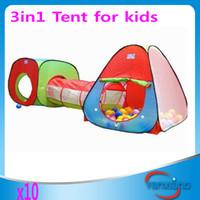 10pcs Pliable enfants Jouets d'extérieur Maison / Portable Tunnel Toy Type Tente pour Enfants / novetly cadeau pour bébé ZY-ZP-002