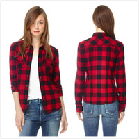 Wholesale Red Green Plaid Shirt Womens - Buy Cheap Red Green Plaid ...