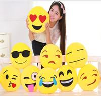Emoji Stuffed Plush Pillows Cartoon Emoji Smiley Pillows Cus...