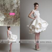 Krikor Jabotian Little White Ivory Wedding Dresses 2015 Shee...