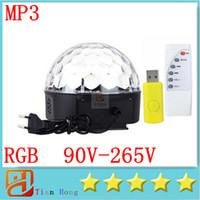 RGB MP3 Magic Crystal Ball LED Music stage light 18W Home Pa...