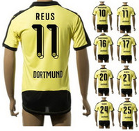 15- 16 New season thai Quality Customized 11# REUS Soccer Jer...