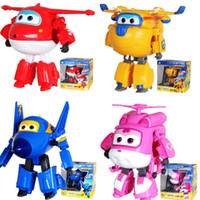 Super Wings 12cm * 15cm Grand Transforming Planes séries Robot Jouets Chine Funny Flux TV Jett Jet Anime Action Figure Kids Gift For Children