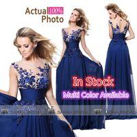 Tarik Ediz Royal Blue Chiffon Evening Prom Gowns In Stock 20...