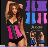 XS- 6XL 4 Colors Women Latex Rubber Waist Training Cincher Wa...